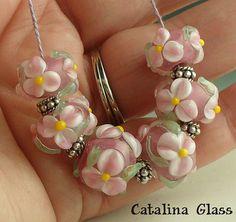 SRA Lampwork Glass Beads handmade by Catalina by catalinaglass, $36.00