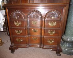 Mahogany Townsend Goddard Style Block Front Scallop Chest Drawers By Hickory Chair American Masterpiece Collection