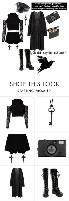 """""""Bad Reputation"""" by madhatter999 ❤ liked on Polyvore featuring MINKPINK, Tiffany & Co., Chicnova Fashion, Dr. Martens, Lomography, H&M and Nana'"""