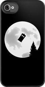 Tardis and the moon case for iPhone  and iPod touch