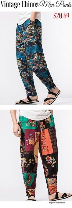 Casual boho gypsy loose men pants for daily wear. Which ones would you choose? Click to shop at $20.69.