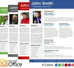 Get all #Resume #Templates for #Microsoft #Word collection at @CV Folio...............
