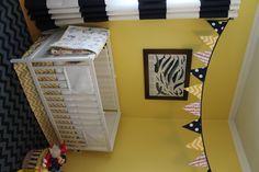Baby boy nursery yellow nautical bunting DIY