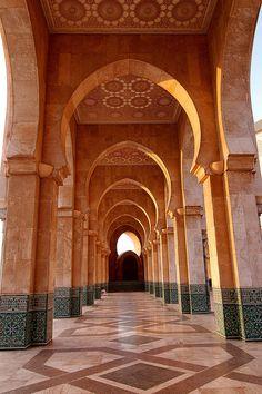 Mosque Hassan II, Casablanca, Morocco ♥ ♥   www.paintingyouwithwords.com