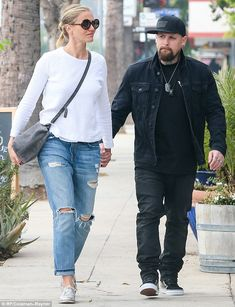 In love: The actress and her musician beau sweetly held hands as they stepped…