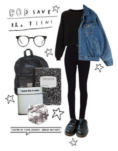 """god save the teens"" by summersunsets ❤ liked on Polyvore featuring Topshop, Dr. Martens, ASOS, Spitfire and vintage"