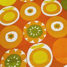 Vintage cotton, Apples and flowers 122 cm by 102 cm £35 plus p&p