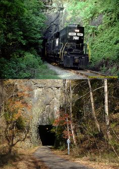 Lynchburg Then and Now - N&W Tunnel in 1982 and 2011 Southern Heritage, Norfolk Southern, Places To Travel, Places To Go, Lynchburg Virginia, Abandoned Train, Southern Railways, Virginia Is For Lovers, Railroad Photography