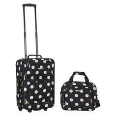 Polka dot luggage