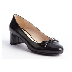 Prada Black Patent Leather Bow Detail Heel Loafer