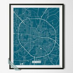 DOTHAN, ALABAMA STREET MAP PRINT by Voca Prints! Modern street map art poster with 42 color choices. Perfect for anyone who loves to travel or is away from home.