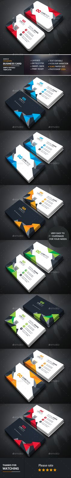 Corporate Business Card Bundle - Business Cards Print Templates Download here : http://graphicriver.net/item/corporate-business-card-bundle/16825578?s_rank=53&ref=Al-fatih