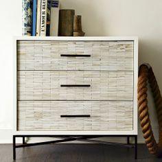 Wood Tiled 3-Drawer Dresser | west elm