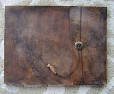 Large Refillable Leather Sketchbook - Old World, Journal, Drawing Pad, Photo Album, Notebook, Guest Book
