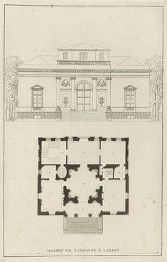 Goetghebuer - 1827 - Choix des monuments - 014 Maison de campagne Laeken.jpg
