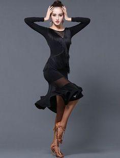 New Dancewear Tassels Latin Dance Performance Dress Rumba Samba Cha Cha Ballroom | eBay