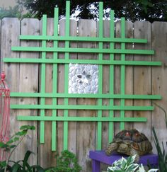Green Trellis Outdoor Wall Art Metal Flower Abstract on Etsy, $150.00