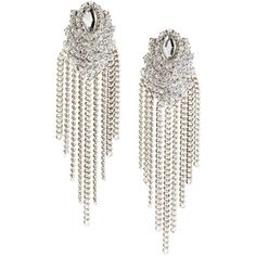H&M Earrings (10 CAD) ❤ liked on Polyvore featuring jewelry, earrings, accessories, h&m, silver, h&m jewelry, sparkle jewelry, earring jewelry, chains jewelry and chain earrings