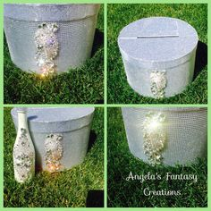 Another pic by Angela's fantasy creations cardbox moneybox crystallized