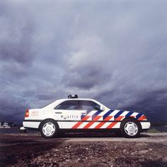 Dutch police livery, designed by Studio Dunbar in 1992 and still in use today. I want to live in the Netherlands.