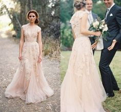 Find More Wedding Dresses Information about 2015 Modest Sexy Bridal Gowns With Delicate Appliques Deep V neck Short Cap Sleeves Sheer Back Court Train Wedding Dress,High Quality gown clearance,China dress long sleeve tunic dress Suppliers, Cheap gown cover from BURBERLI STORE  on Aliexpress.com