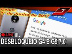 Desbloqueio/FRP Bypass Google Moto G4 e G5 Android 7.0 - 1 de Junho de 2017