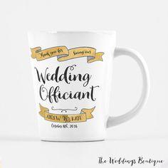 Wedding Officiant mug, customized latte mug, thank you gift