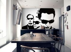 Depeche Mode wall mural, I want this sooooo bad!