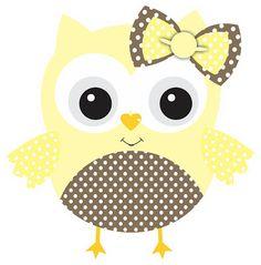 Ei Menina!: Corujinhas em amarelo e marrom...