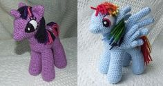 """Insanely Cute Ponies - Did you or someone you know grow up with """"My Little Pony""""? Crochet these super cute ponies for you or the kids. The crochet instructions come with a variety of designs."""