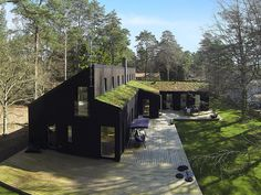 luv this house Long House, Shed Homes, Modern Barn, Black House, House In The Woods, Architecture Details, Modern Architecture, Exterior Design, Future House