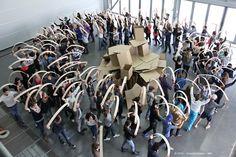 """Grands Ateliers avec des étudiants de 1ère année de Grenoble dans le cadre des exercices sur l'espace de l'Atelier Matière à Construire """"amàco"""" http://www.grenoble.archi.fr/ http://www.lesgrandsateliers.org/"""