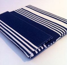 iPad Case, iPad Cover, iPad Sleeve in Navy and White Stripe. $27.00, via Etsy.