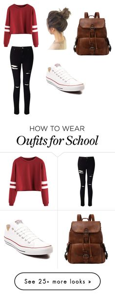 """Monday back to school"" by madeline-carpenter on Polyvore featuring Miss Selfridge and Converse"