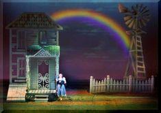 Wizard of Oz set Design by Richard Finkelstein, Stage Designer The Wizard Of Oz Costumes, Wizard Of Oz Play, Wizard Of Oz Musical, Wizard Oz, Musical Theatre, Stage Set Design, Set Design Theatre, Wizard Of Oz Tornado, August Strindberg