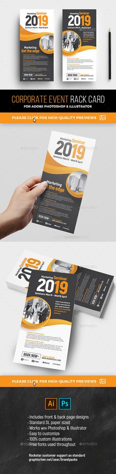 Brochure Design Rack Cards By The Thinking Hats Via Behance - Free rack card template