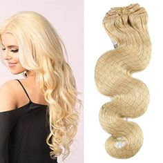 Good Moresoo Body Wave Bleach Blonde#613 Clip In Human Hair Extension Clip Ins Human Hair Brazilian Hair Clip In Extension Full Head Less Expensive Hair Extensions & Wigs
