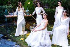 Tocados de novias y coronas de porcelana
