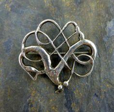 Vtg David Andersen Norway 925s Sterling Silver Viking Knotwork Brooch 1000AD | eBay