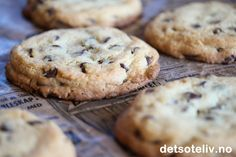 The Best Chocolate Chip Cookies Biscuit Cookies, Biscuit Recipe, Cookie Dough, Norwegian Food, Best Banana Bread, Best Chocolate Chip Cookie, Recipe Boards, Cake Recipes, Sweet Tooth