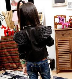 girls leather jacket with angel wings   I NEED to find this!