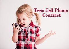 Holy Craft: Teenage cell phone contract. Wow! I think this covers all the concerns I have!