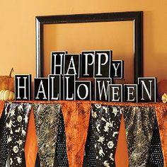 Bewitching Halloween Mantel