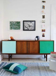 12 Rad Color Block Furniture Tutorials via Brit + Co.