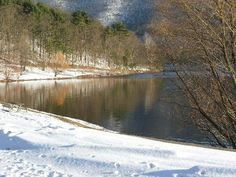 Raystown Lake in Huntingdon, PA in the winter. Looks like Snyder Run!