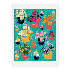 Sam Osborne Pirate Ships Art Print | DENY Designs Home Accessories
