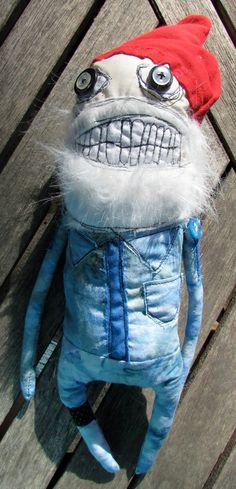 Steve Zissou inspired art doll Angus by monstermaud on Etsy