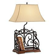 Bookshelf lamp - great for the bedside table!