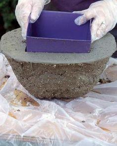 proyectos ollas hypertufa ideas hypertufa proyectos hypertufa hypertufa jardineras de cemento artesanas de hormign ideas concretas