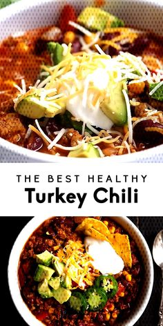 The Best Healthy Turkey ChiliYou can find Ground turkey chili and more on our website.The Best Healthy Turkey Chili Healthy Slow Cooker, Slow Cooker Recipes, Ground Turkey Chili, Turkey Cooker, Beans, Dinner, Ethnic Recipes, Food, Website